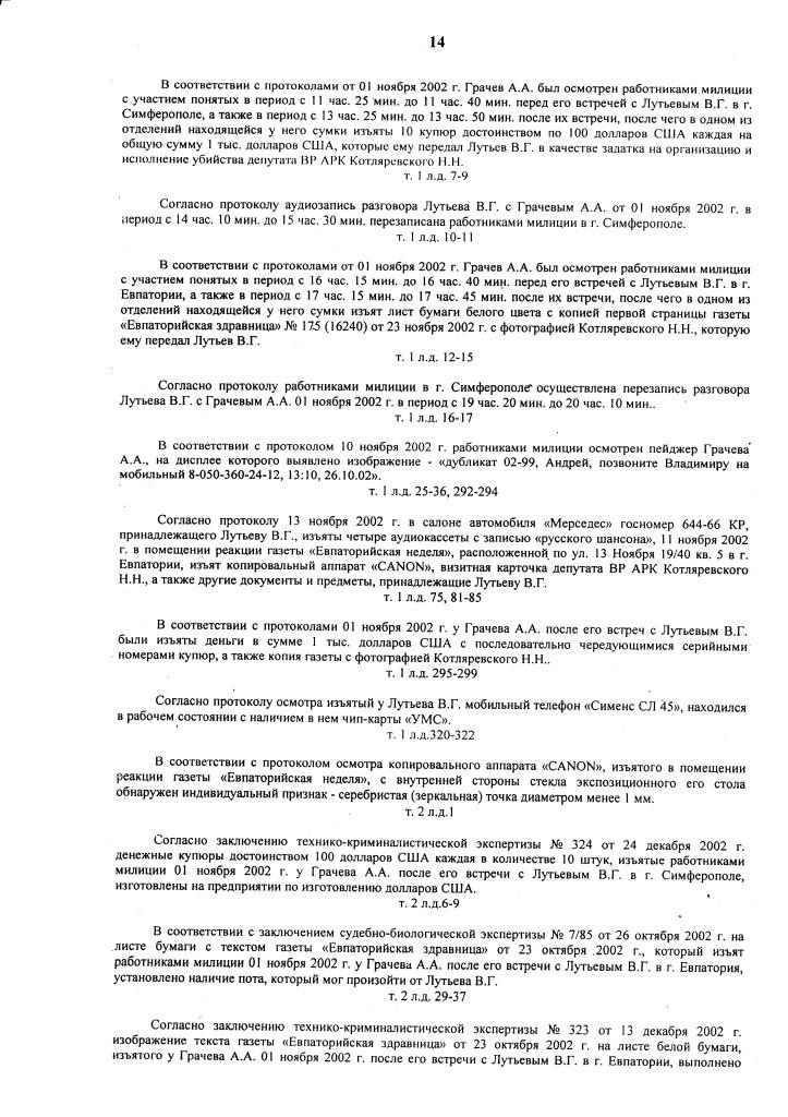 ПРИГОВОР Л. 12.07.06 д.1-2.06 ОБОГАТИЛСЯ на 300.000 грн (14)