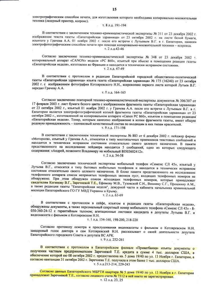 ПРИГОВОР Л. 12.07.06 д.1-2.06 ОБОГАТИЛСЯ на 300.000 грн (15)