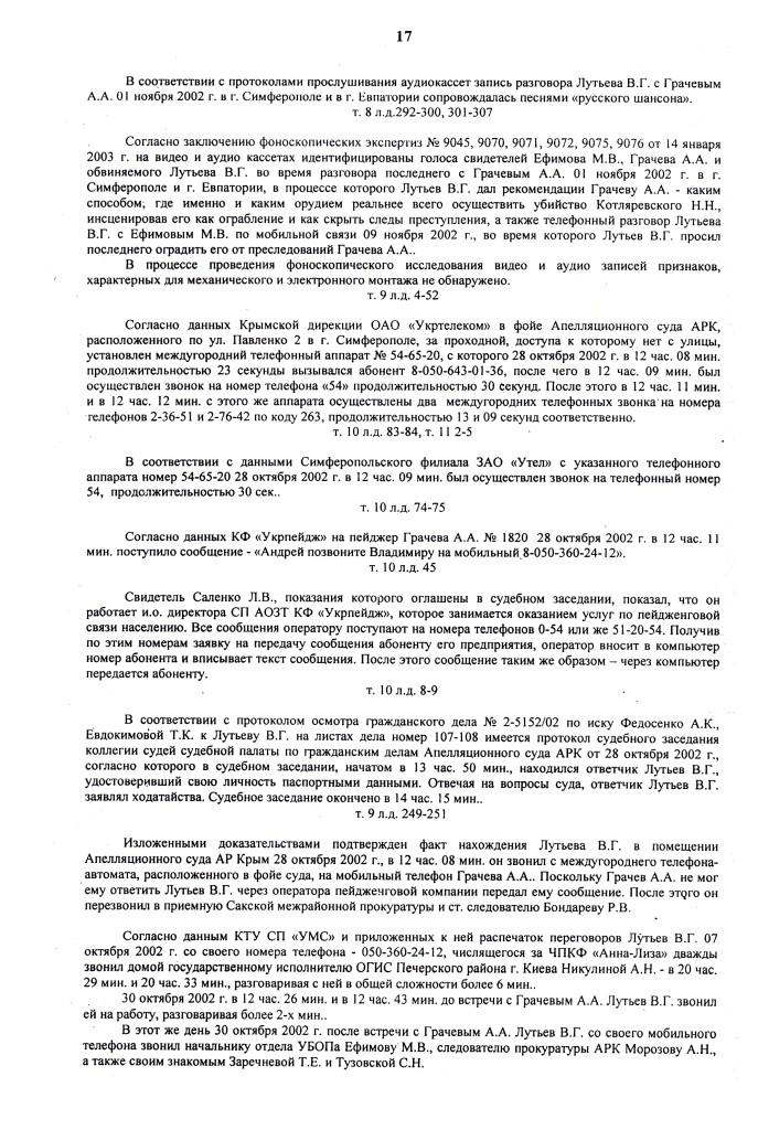 ПРИГОВОР Л. 12.07.06 д.1-2.06 ОБОГАТИЛСЯ на 300.000 грн (17)