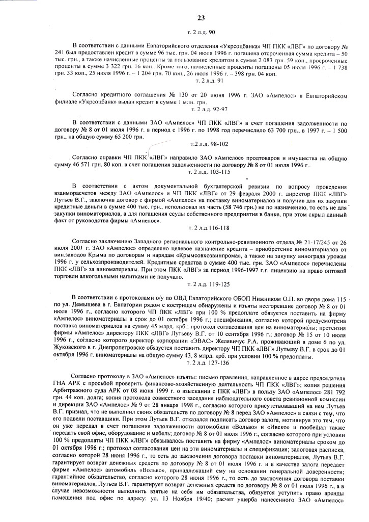 ПРИГОВОР Л. 12.07.06 д.1-2.06 ОБОГАТИЛСЯ на 300.000 грн (23)